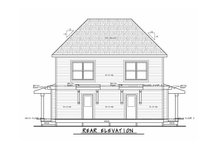 Architectural House Design - Country Exterior - Rear Elevation Plan #20-2383