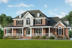 House Plan Design - Colonial Exterior - Front Elevation Plan #929-705