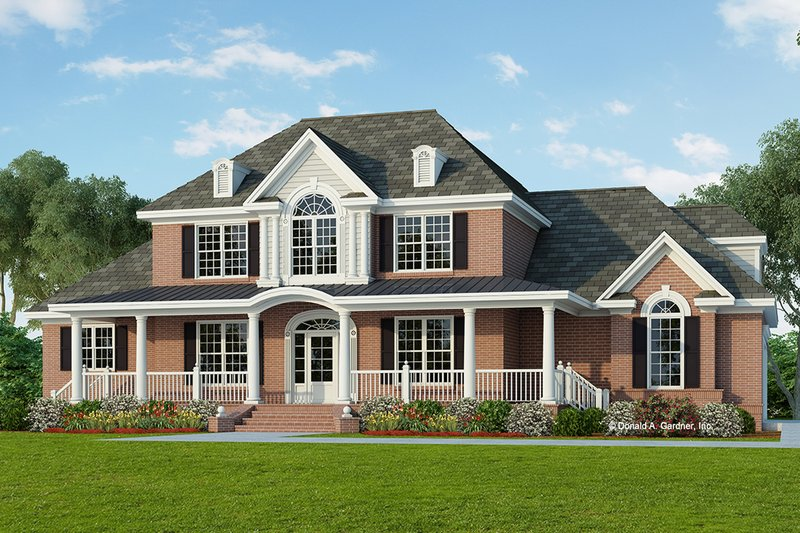 Colonial Exterior - Front Elevation Plan #929-705