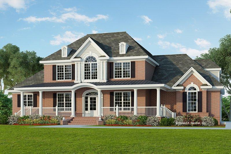 Colonial Exterior - Front Elevation Plan #929-705 - Houseplans.com