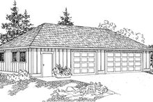 Dream House Plan - Traditional Exterior - Front Elevation Plan #124-801