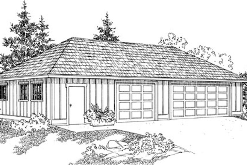 Traditional Exterior - Front Elevation Plan #124-801