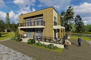 Modern Exterior - Front Elevation Plan #549-2