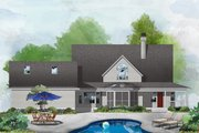Country Style House Plan - 3 Beds 2.5 Baths 2161 Sq/Ft Plan #929-122 Exterior - Rear Elevation