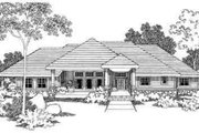 Ranch Style House Plan - 3 Beds 2.5 Baths 2614 Sq/Ft Plan #124-395 Exterior - Front Elevation