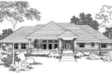 Ranch Exterior - Front Elevation Plan #124-395