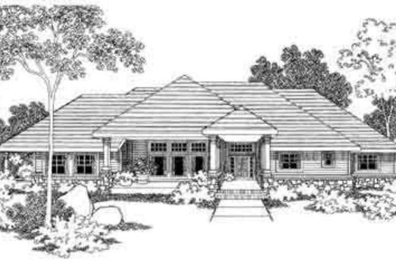 House Plan Design - Ranch Exterior - Front Elevation Plan #124-395