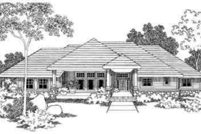 Home Plan - Ranch Exterior - Front Elevation Plan #124-395
