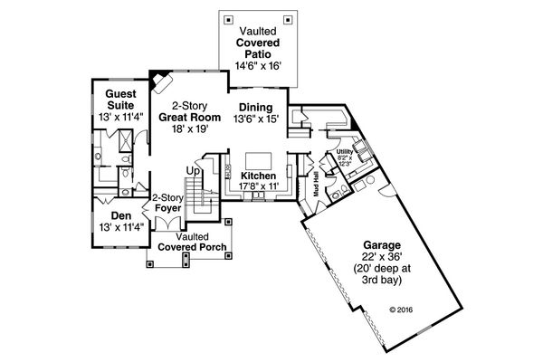 Traditional Floor Plan - Main Floor Plan Plan #124-1033