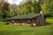 Cabin Style House Plan - 2 Beds 1 Baths 1200 Sq/Ft Plan #932-8 Exterior - Front Elevation
