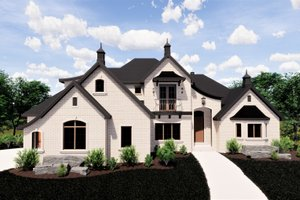 European Exterior - Front Elevation Plan #920-12
