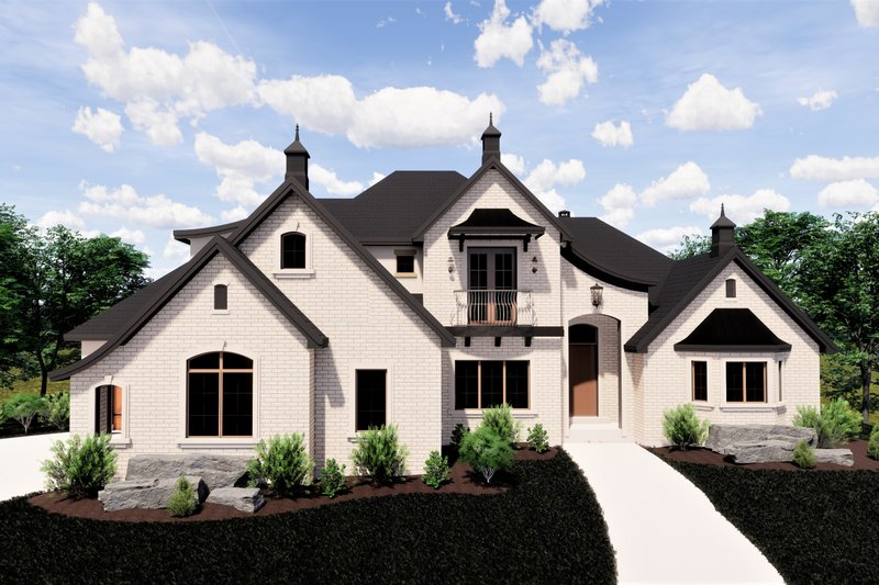 House Plan Design - European Exterior - Front Elevation Plan #920-12