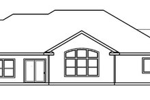 Home Plan - Mediterranean Exterior - Rear Elevation Plan #124-466