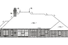 European Exterior - Rear Elevation Plan #310-279