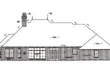 House Plan Design - European Exterior - Rear Elevation Plan #310-279