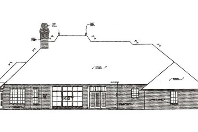 European Exterior - Rear Elevation Plan #310-279 - Houseplans.com