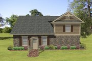 Craftsman Style House Plan - 1 Beds 1 Baths 870 Sq/Ft Plan #56-610 Exterior - Front Elevation