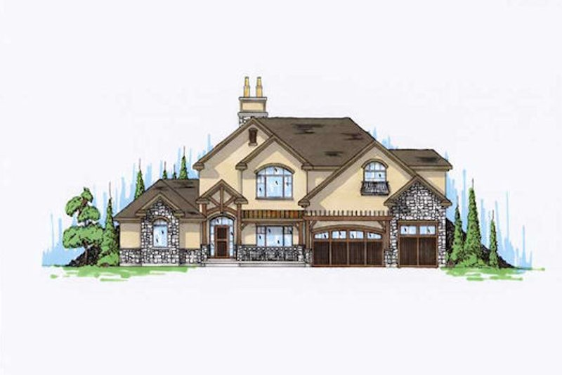 Dream House Plan - European Exterior - Front Elevation Plan #5-395