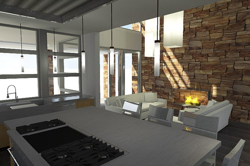 Modern Interior - Kitchen Plan #64-221 - Houseplans.com