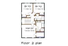 Craftsman Floor Plan - Upper Floor Plan Plan #79-305