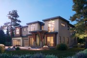 Contemporary Style House Plan - 5 Beds 5.5 Baths 5156 Sq/Ft Plan #1066-104 Exterior - Other Elevation
