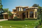 Mediterranean Style House Plan - 4 Beds 3.5 Baths 4020 Sq/Ft Plan #420-290
