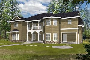 Dream House Plan - European Exterior - Front Elevation Plan #117-537