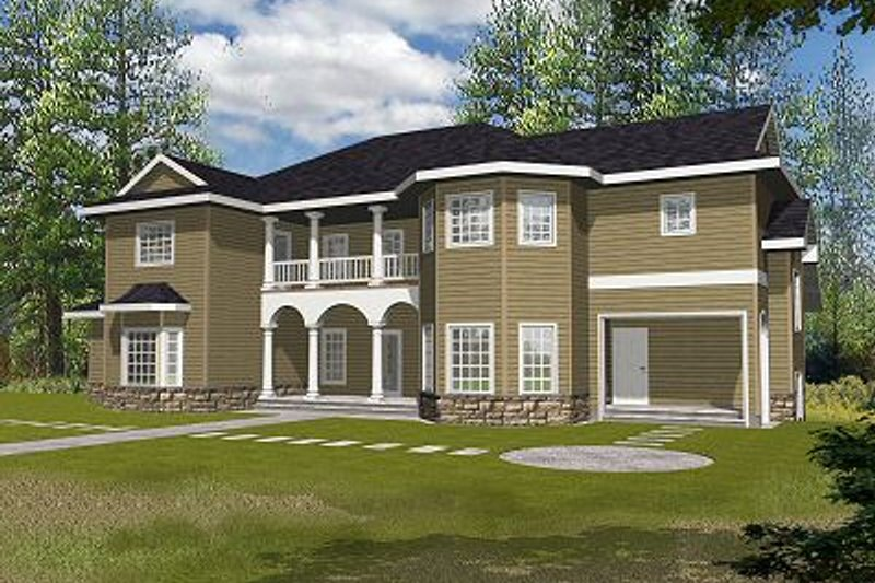 European Style House Plan - 6 Beds 6.5 Baths 3798 Sq/Ft Plan #117-537 Exterior - Front Elevation