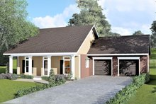 Country Exterior - Front Elevation Plan #44-183
