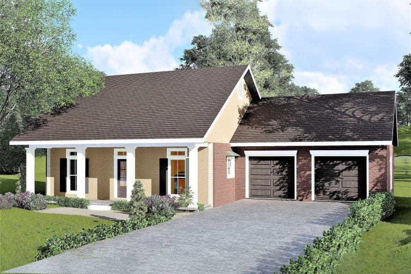 Dream House Plan - Country Exterior - Front Elevation Plan #44-183