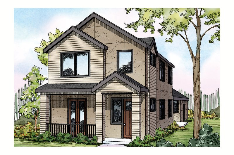Exterior - Front Elevation Plan #124-908
