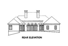 European Exterior - Rear Elevation Plan #429-6