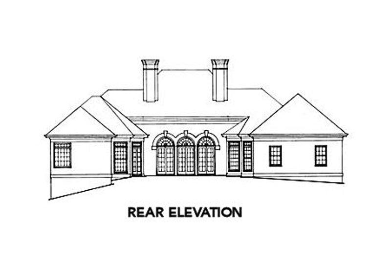 European Exterior - Rear Elevation Plan #429-6 - Houseplans.com