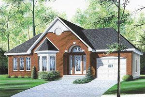 European Exterior - Front Elevation Plan #23-1003