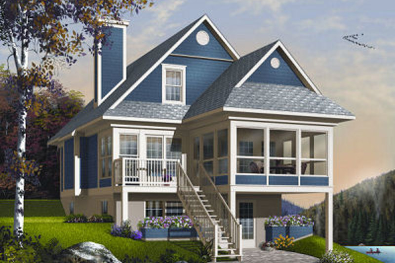 Beach Exterior - Front Elevation Plan #23-866