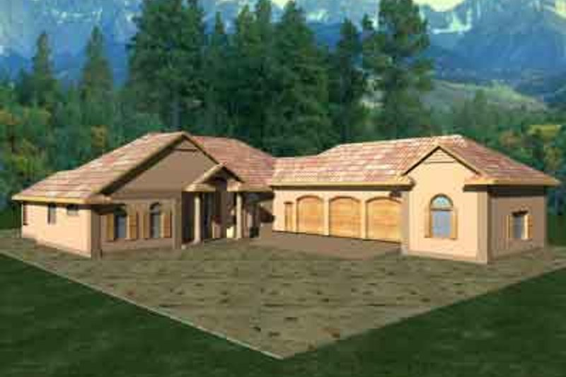 Traditional Exterior - Front Elevation Plan #117-165 - Houseplans.com