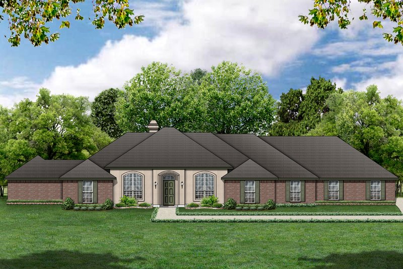 Dream House Plan - Traditional Exterior - Front Elevation Plan #84-379
