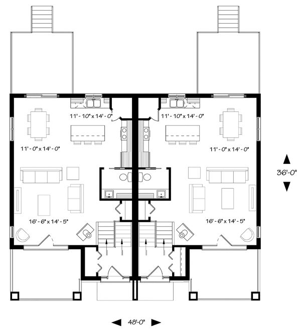Craftsman Floor Plan - Main Floor Plan Plan #23-2694