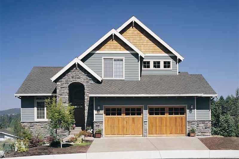 Craftsman Exterior - Front Elevation Plan #48-111 - Houseplans.com