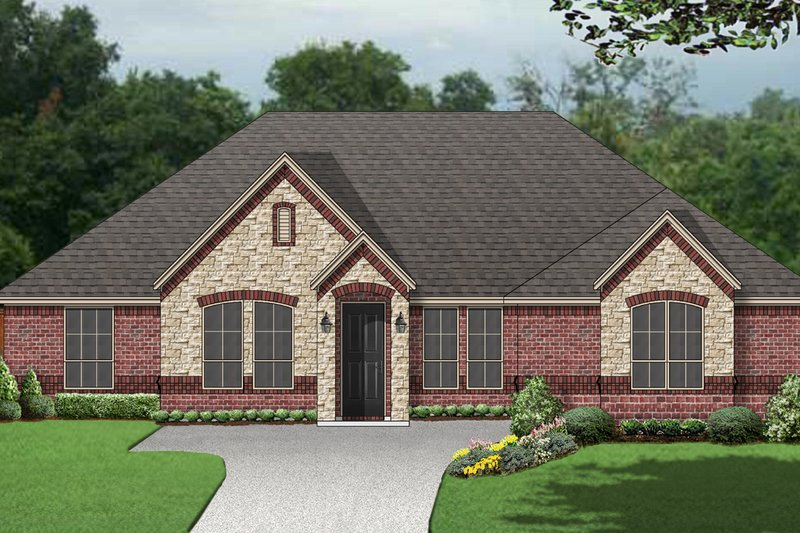 Traditional Style House Plan - 5 Beds 3 Baths 2822 Sq/Ft Plan #84-596 Exterior - Front Elevation