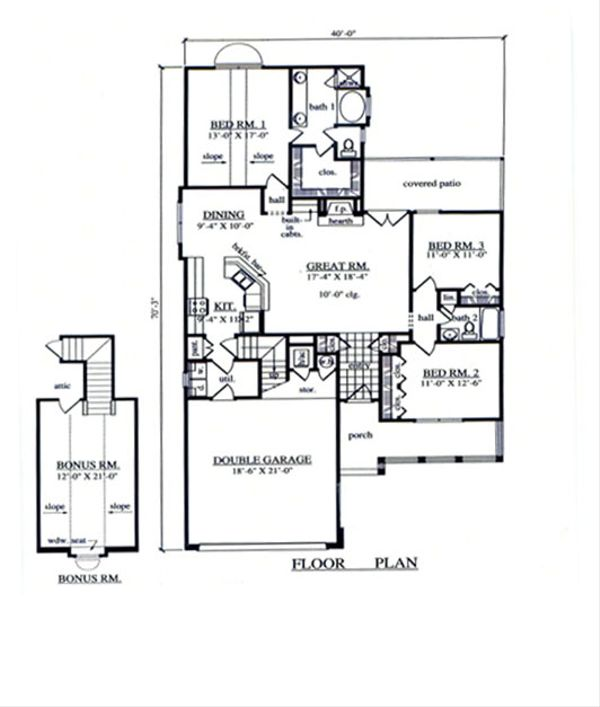 Country Floor Plan - Main Floor Plan Plan #42-367