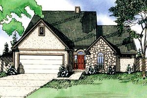 European Exterior - Front Elevation Plan #405-114
