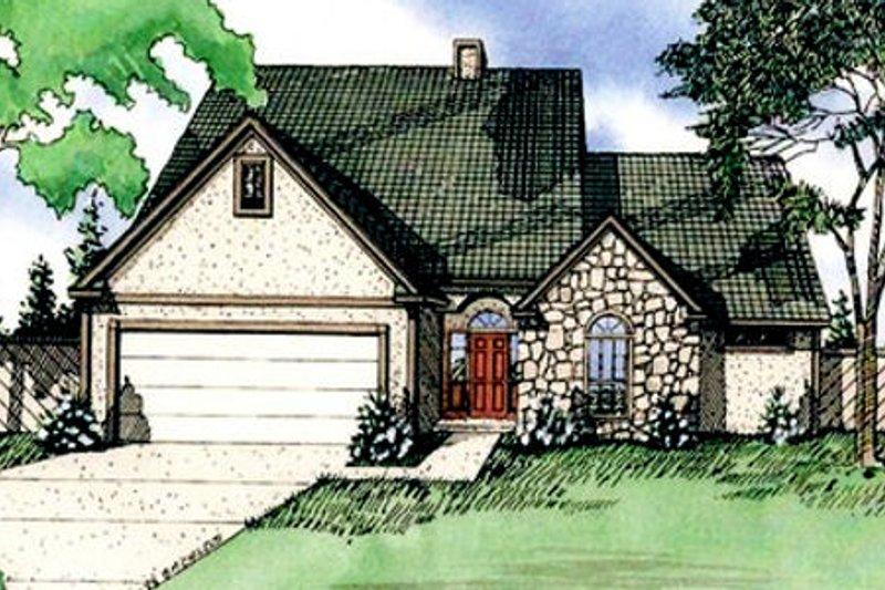 European Exterior - Front Elevation Plan #405-114 - Houseplans.com