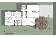 Modern Style House Plan - 3 Beds 2 Baths 1099 Sq/Ft Plan #495-1 Floor Plan - Main Floor