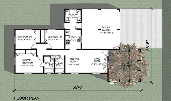 Modern Floor Plan - Main Floor Plan Plan #495-1