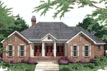 Dream House Plan - Southern Exterior - Front Elevation Plan #406-203
