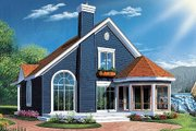 Country Style House Plan - 3 Beds 2 Baths 1468 Sq/Ft Plan #23-2042 Exterior - Rear Elevation