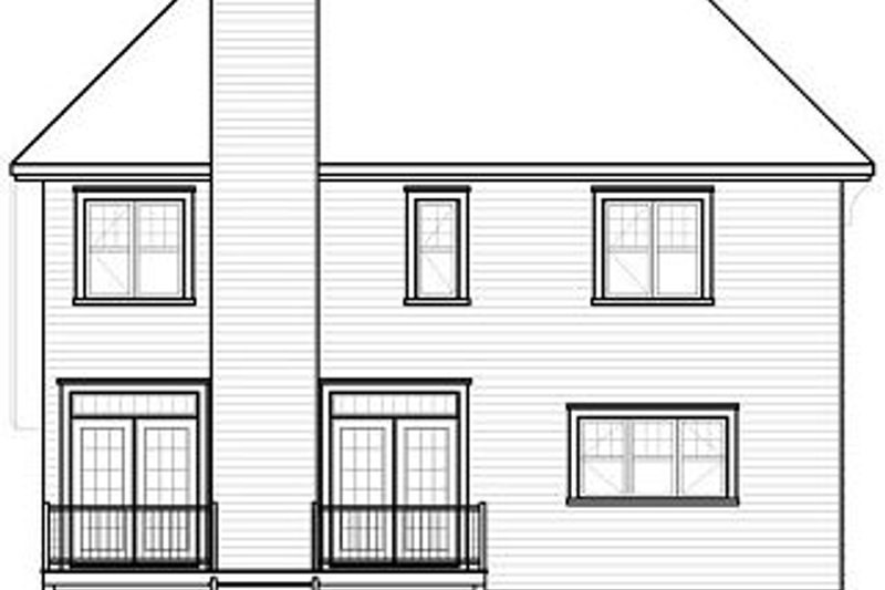 European Exterior - Rear Elevation Plan #23-816 - Houseplans.com