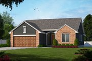 Traditional Style House Plan - 3 Beds 2 Baths 1392 Sq/Ft Plan #20-109 Exterior - Front Elevation