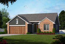 Traditional Exterior - Front Elevation Plan #20-109